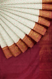 SIGNORAA WHITE RAJKOT PATOLA SILK SAREE-RPT00721- Cover View