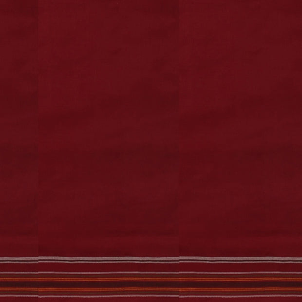 SIGNORAA MAROON SINGLE IKAT SILK SAREE-RPT00743- Blouse View