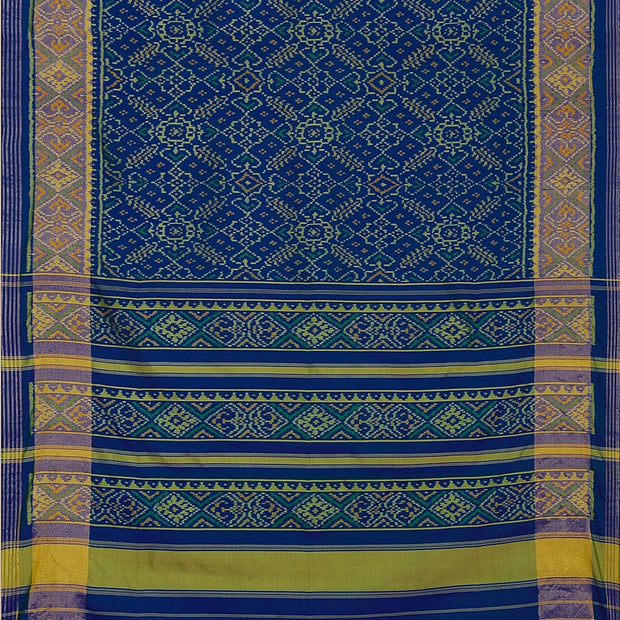 SIGNORAA BLUE RAJKOT PATOLA SILK SAREE-RPT00754- Full View