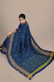 SIGNORAA BLUE RAJKOT PATOLA SILK SAREE-RPT00754- Model View 2