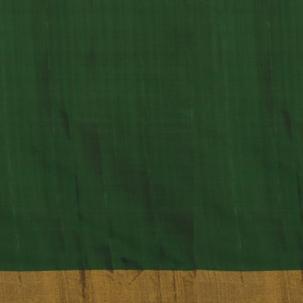 SIGNORAA BOTTLE GREEN RAJKOT PATOLA SILK SAREE-RPT00765- Blouse View