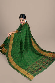 SIGNORAA BOTTLE GREEN RAJKOT PATOLA SILK SAREE-RPT00765- Model View 2