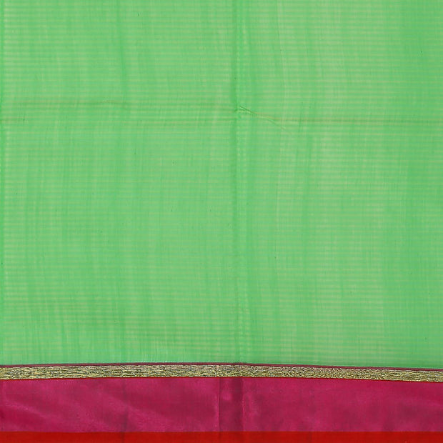 SIGNORAA GREEN BANARASI COTTON SAREE-BSK08797- Blouse View