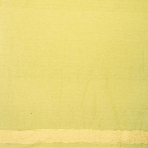 SIGNORAA GREEN BANARASI SILK COTTON SAREE-BSK08291- Blouse View