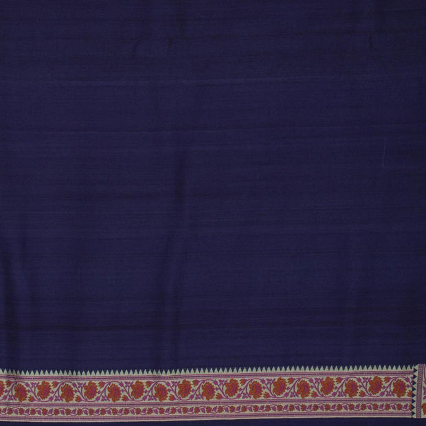SIGNORAA NAVY BLUE TUSSAR GEORGETTE BANARASI SAREE-CHG03676- Blouse View