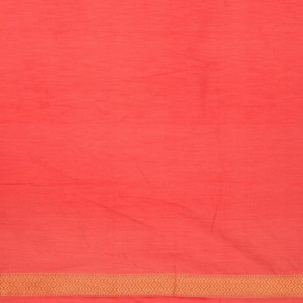 SIGNORAA RED BANARASI SILK COTTON SAREE-BSK08306- Blouse View