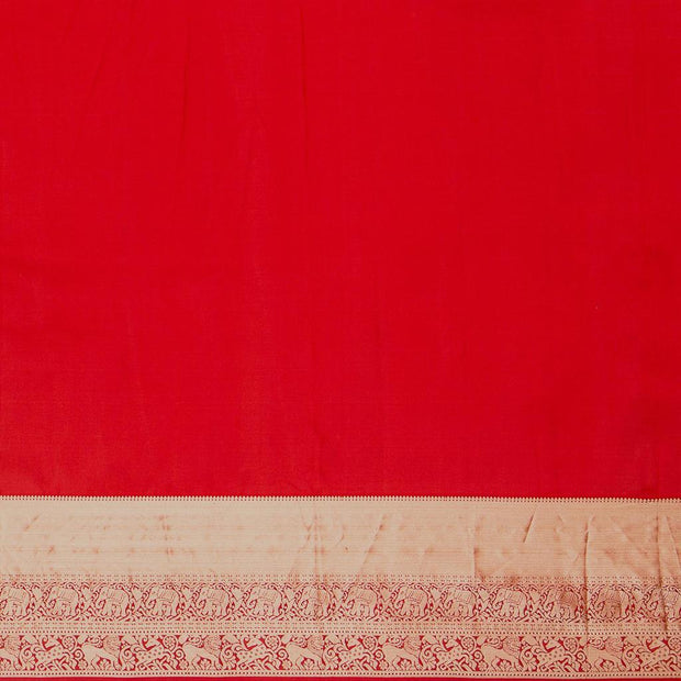 SIGNORAA RED KANCHIPURAM SILK SAREE-KSL02644-Blouse View