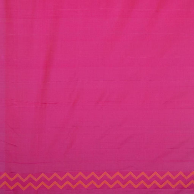 SIGNORAA RANI PINK KANCHIPURAM SILK SAREE-KSL02579- Blouse View