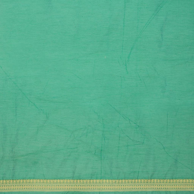 SIGNORAA GREEN BANARASI SILK COTTON SAREE-BSK08306A- Blouse View