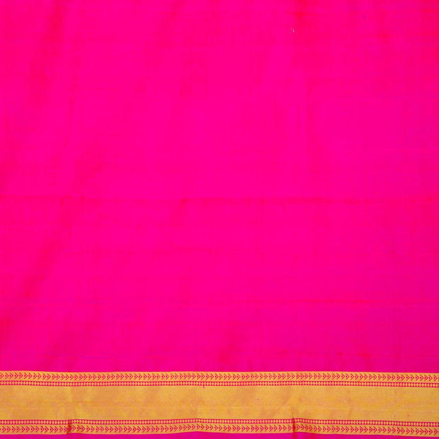 SIGNORAA PINK KANCHIPURAM SILK SAREE-KSL02557A- Blouse View