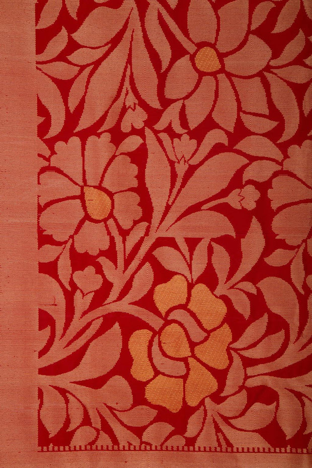 SIGNORAA RED KANCHIPURAM SILK SAREE-KSL02557- Design View