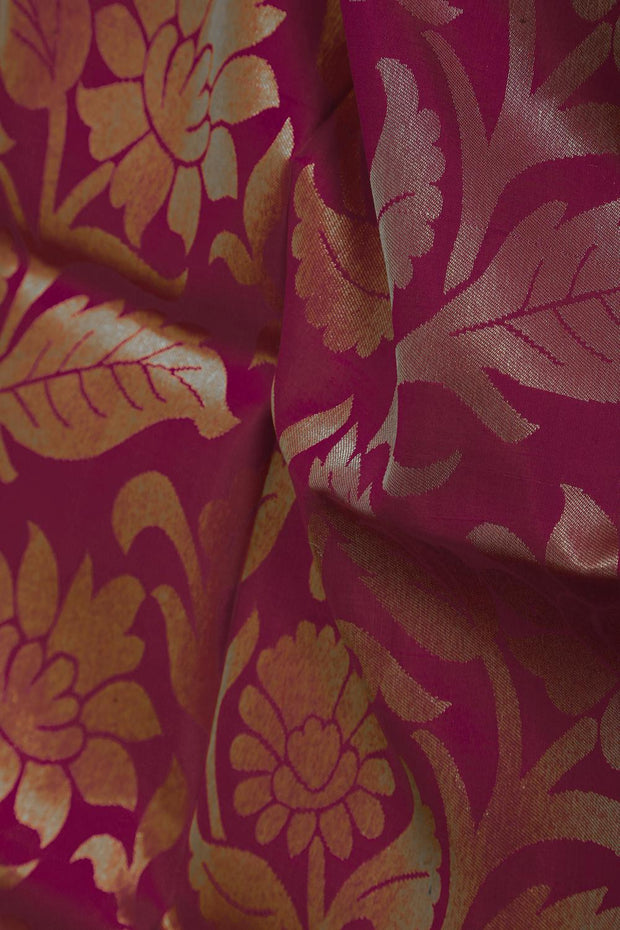 SIGNORAA RANI PINK KANCHIPURAM SOFT SILK SAREE-KSL02551- Design View