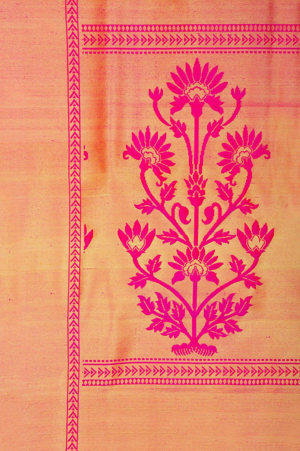 SIGNORAA PINK KANCHIPURAM SILK SAREE-KSL02557A- Design View