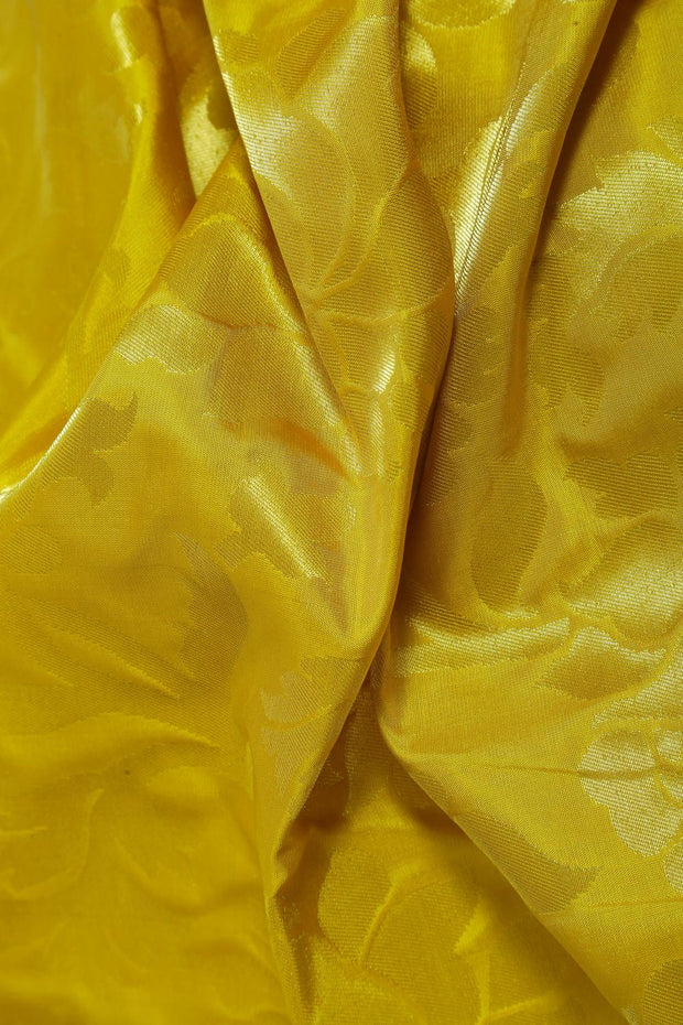SIGNORAA YELLOW KANCHIPURAM SOFT SILK SAREE-KSL02556- Design View