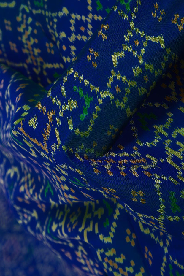 SIGNORAA BLUE RAJKOT PATOLA SILK SAREE-RPT00754- Design View