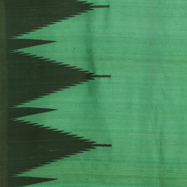 SIGNORAA DARK GREEN BANARASI TUSSAR SAREE-BSK08104- Design View