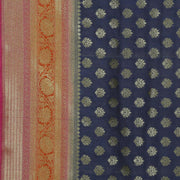SIGNORAA NAVY BLUE BANARASI TUSSAR SAREE-BSK08846- Design View