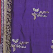 SIGNORAA PURPLE BANARASI SILK SAREE-BSK08965- Design View