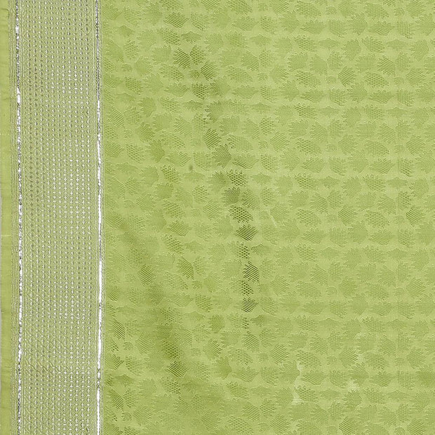 SIGNORAA GREEN BANARASI SILK SAREE-BSK08736- Design View