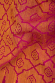 SIGNORAA SHOT ORANGE KANCHIPURAM SOFT SILK SAREE-KSL02607- Design View