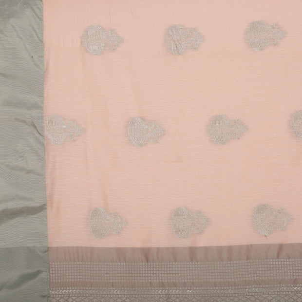 SIGNORAA LIGHT PINK DAILY WEAR TUSSAR SAREE-BLN00096A- Design View