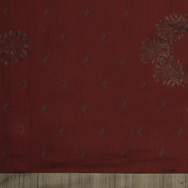 SIGNORAA BROWN DAILY WEAR TUSSAR SAREE-BLN00069- Blouse View