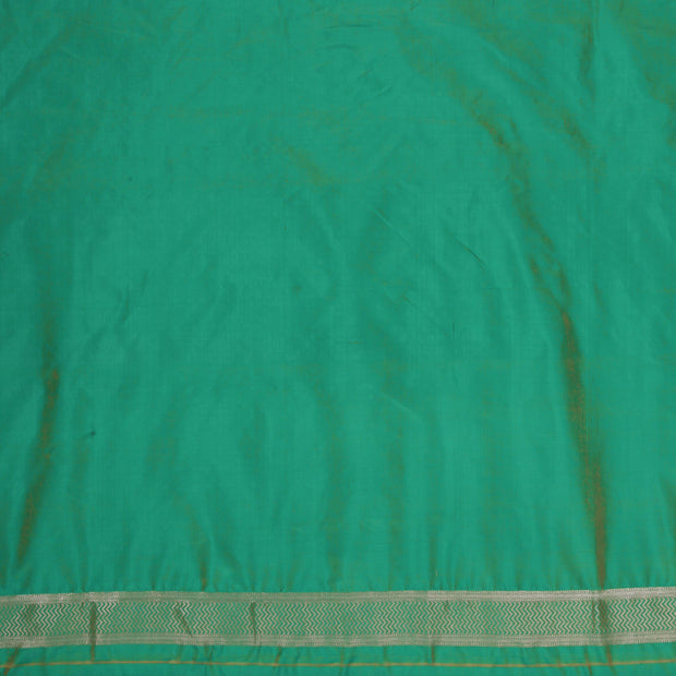 SIGNORAA SEA BLUE BANARASI SILK SAREE-BSK09028- Blouse View