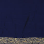 SIGNORAA NAVY BLUE BANARASI SILK SAREE-BSK07132- Blouse View