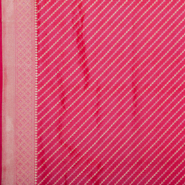 SIGNORAA SHOT RANI PINK BANARASI SILK SAREE-BSK085570-Design View