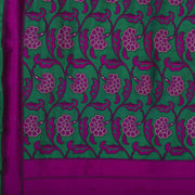 SIGNORAA GREEN BANARASI SILK SAREE-BSK03842- Design View