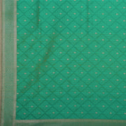 SIGNORAA SEA BLUE BANARASI SILK SAREE-BSK09028- Design View