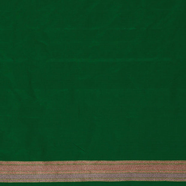 SIGNORAA GREEN BANARASI SILK SAREE-BSK08720- Blouse View