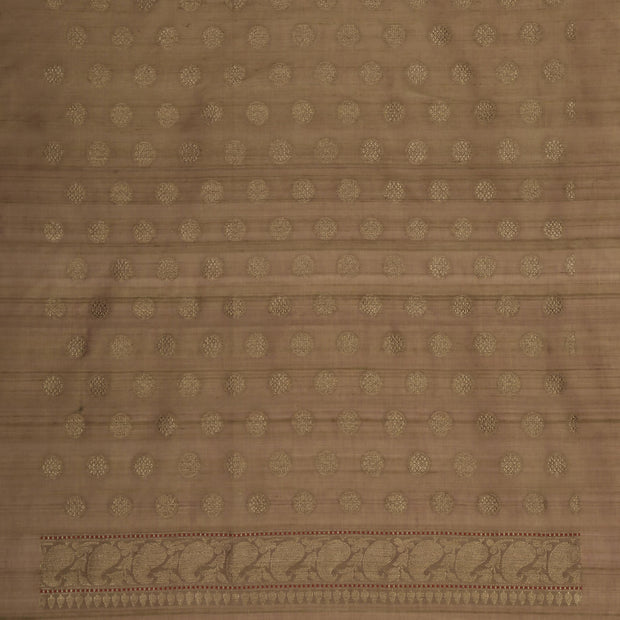 SIGNORAA OLIVE GREEN BANARASI SILK SAREE-BSK09080A- Blouse View