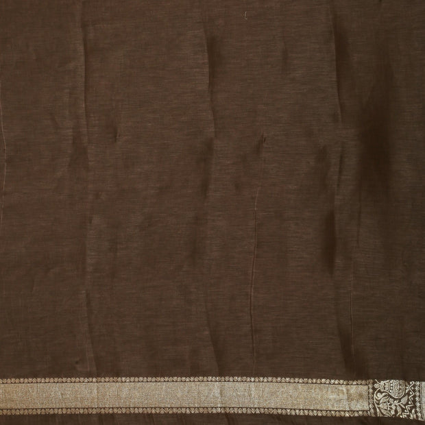 SIGNORAA BROWN BANARASI TUSSAR SILK SAREE-PTS04725- Blouse View