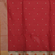 SIGNORAA MAROON DAILY WEAR TUSSAR SAREE-BLN00092A- Design View