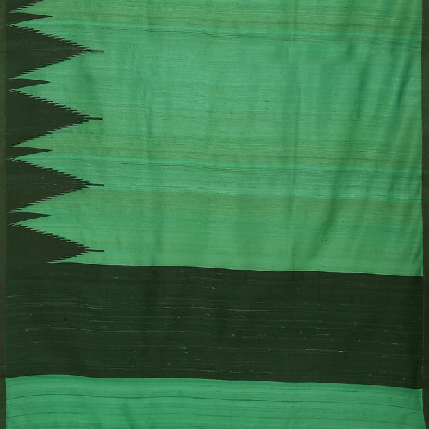 SIGNORAA DARK GREEN BANARASI TUSSAR SAREE-BSK08104- Full View