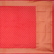 SIGNORAA RED BANARASI SILK COTTON SAREE-BSK08306- Full View