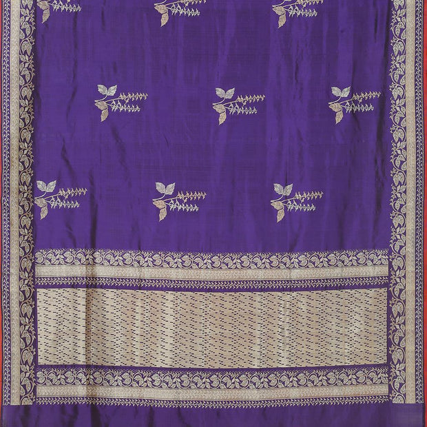 SIGNORAA PURPLE BANARASI SILK SAREE-BSK08965- Full View
