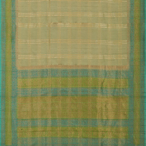 SIGNORAA PALE GREEN BANARASI TUSSAR SILK SAREE-BSK08873- Full View