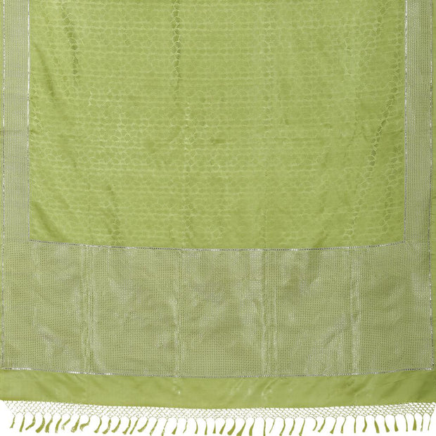 SIGNORAA GREEN BANARASI SILK SAREE-BSK08736- Full View