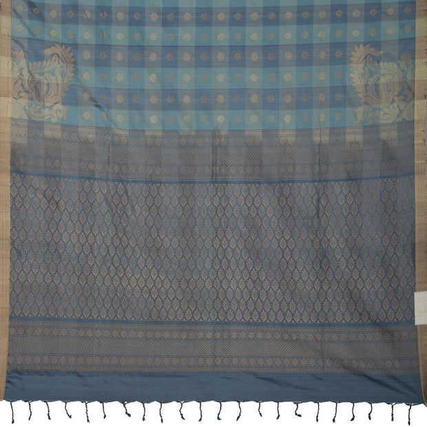 SIGNORAA GREY KANCHIPURAM SILK SAREE-KSL02672- Full View