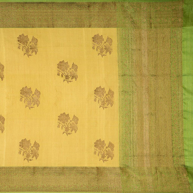 SIGNORAA LIGHT GREEN BANARASI TUSSAR SILK SAREE-BSK08402- Full View