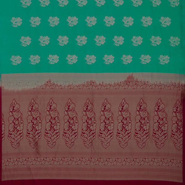 SIGNORAA GREEN KANCHIPURAM SILK SAREE-KSL02571- Full View