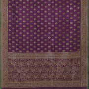 SIGNORAA PURPLE BANARASI TANCHOI SILK SAREE-BSK09033- Full View