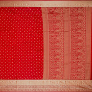 SIGNORAA RED KANCHIPURAM SILK SAREE-KSL02644- Full View