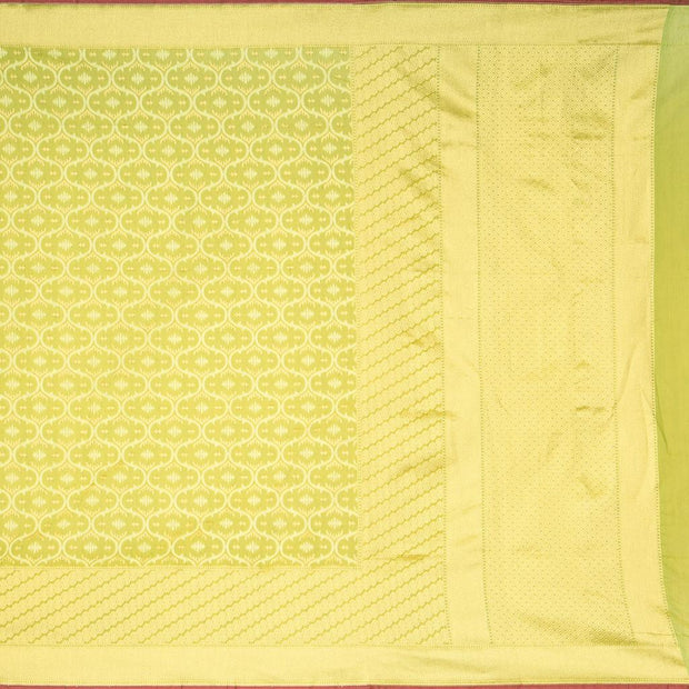 SIGNORAA GREEN BANARASI SILK COTTON SAREE-BSK08291- Full View
