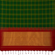 SIGNORAA BOTTLE GREEN KANCHIPURAM SILK SAREE-KSL02576- Full View