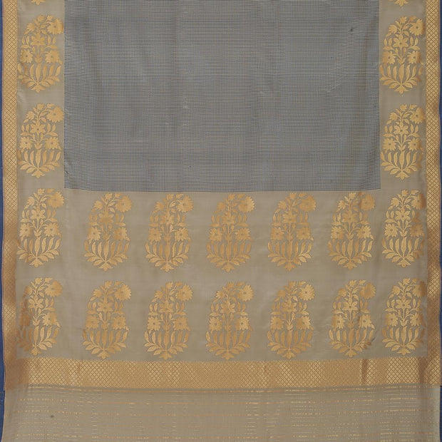 SIGNORAA GREY BANARASI SILK SAREE-BSK08897- Full View