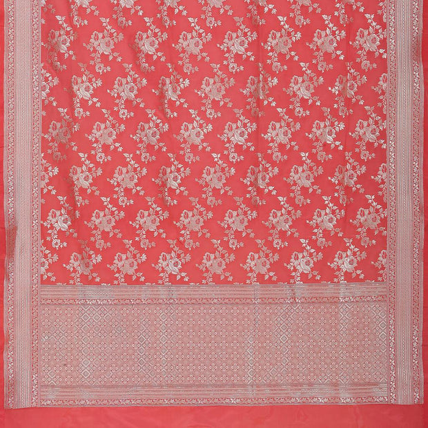 SIGNORAA CORAL BANARASI SILK SAREE-BSK08962- Full View