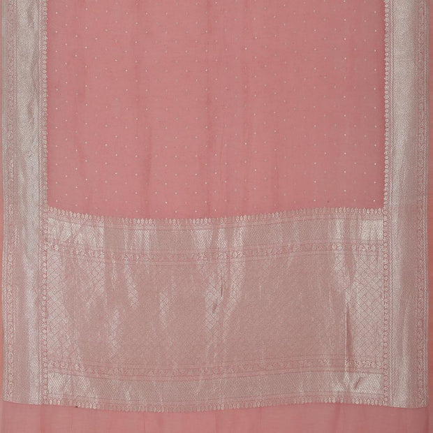 SIGNORAA PEACH TUSSAR SILK SAREE-PTS04720- Full View